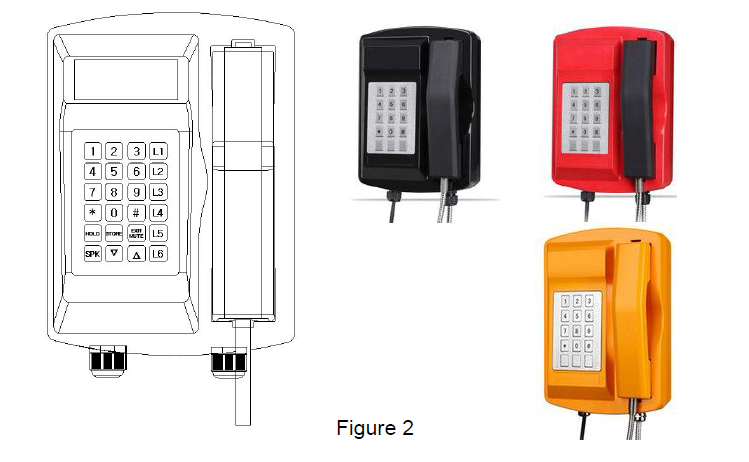 industrial paging system indoor wall mounted telephpne