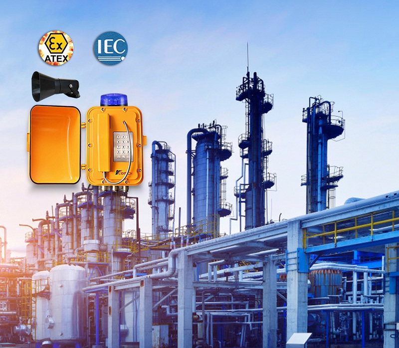 explosion proof telephone application chemical industry