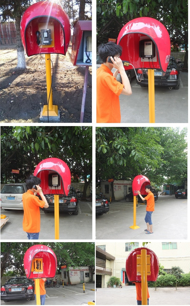 outdoor telephone booth application