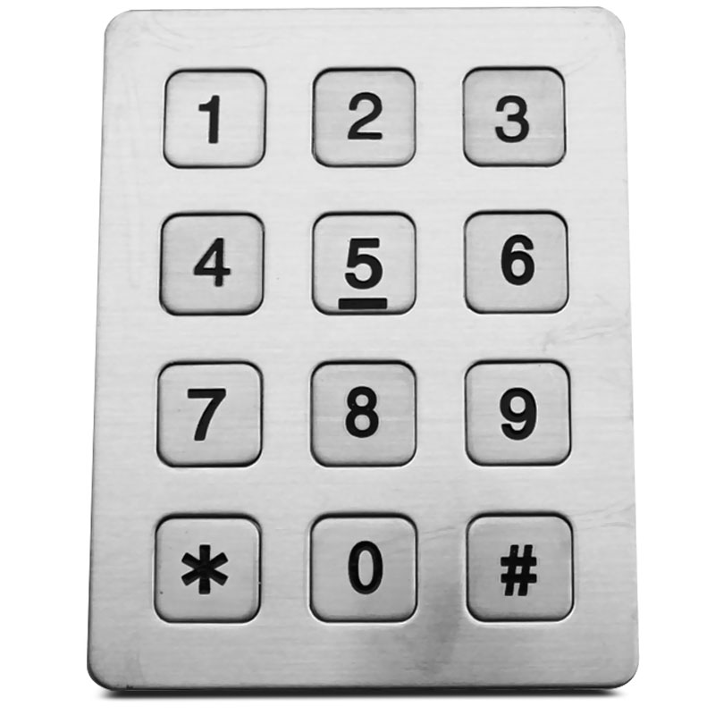 the stainless steel phone keypad