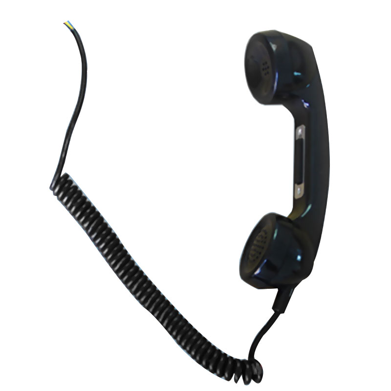 T4 telephone handset with push button