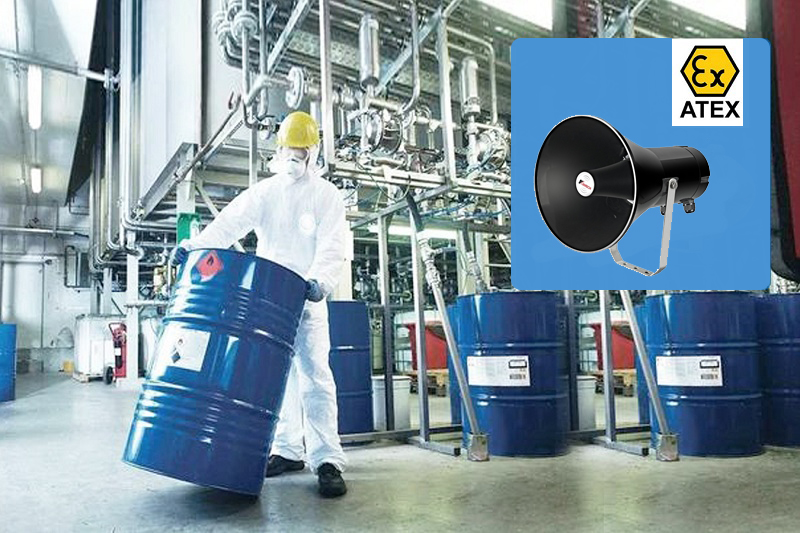 explosion proof speaker application oil