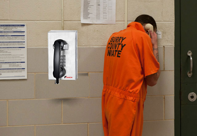 jail telephone on the wall